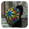 Floral Stained Glass Umbrella - Designer fashion umbrella for women by La Bella Umbrella