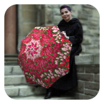 Floral umbrellas for rain - Fashion Tulips umbrella by La Bella Umbrella