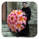 Magnolias Designer fashion floral umbrella for women by La Bella Umbrella