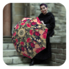 Designer floral umbrella for women - Floral stylish Vintage Roses Umbrella by La Bella Umbrella