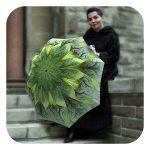 Green Flower Umbrella - Fashion original high quality umbrellas by La Bella Umbrella