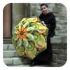 Cool umbrellas for women - Funny fruits rain sun umbrella by La Bella Umbrella
