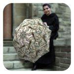 Money-Collage-Umbrella - Funny umbrella gift for men by La Bella Umbrella
