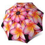 Floral Umbrella - Magnolias Design Pink Flower Umbrella Windproof Compact for Travel
