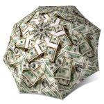 Umbrella Dollar Bills Funny Design Portable Umbrella Unique Gift for Men