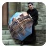Travel compact Patterned European Umbrella- automatic open close rain umbrella by La Bella Umbrella