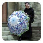Butterflies umbrella - Rain Sun Fashion portable umbrella by La Bella Umbrella