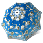 Travel Umbrella for Men - Raining Money Umbrella Funny Design Blue Sky