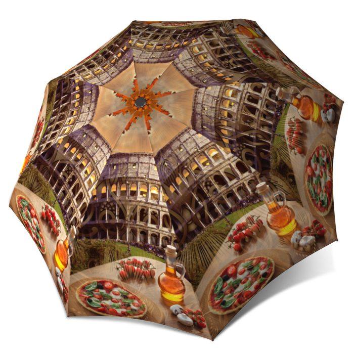 Vintage Umbrella Travel Rome umbrella Compact Automatic Rain Umbrella Italy Rome Colosseum Design
