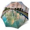 Automatic Rain Umbrella Taj Mahal - Folding Colourful Umbrella with Sleeve