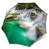 Green Umbrella Thailand Waterfall Lightweight Portable for Rain