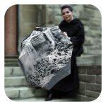 Vintage travel rain umbrella - Canadian Waterfall design by La Bella Umbrella