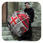 London-Umbrella - English auto open close rain umbrella - Travel compact umbrella for women by La Bella Umbrella