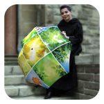 Spring-Collage-Umbrella - Fashion umbrella with unique design for women by La Bella Umbrella