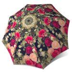 Vintage Roses Folding Colourful Umbrella with Sleeve - Unique Gift Art Umbrella